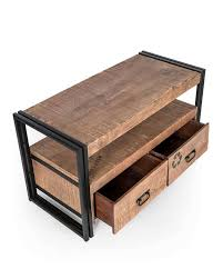 Reclaimed Wood Tv Stand Industrial Furniture Range U2013 Homescapes Regarding Recycled Stands Gallery