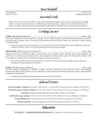 cook sample resume