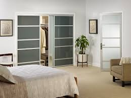 image of beautiful frosted glass closet doors
