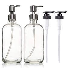 Amazon.com: Raking Soap Dispenser Bottle, 17ounce Glass Bottle ...