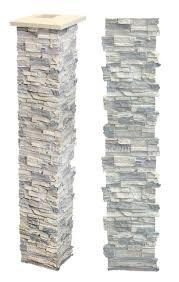 Decorative 4x4 Post Wraps Faux Stone Post Wraps Stone Porch Column Covers