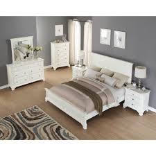 Shop Laveno 012 White Wood Bedroom Furniture Set, Includes Queen Bed ...