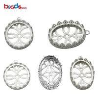 silver pendant base & bail