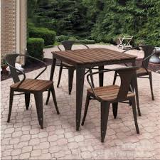 metal and wood patio furniture. Simple And Outdoor Furniture SetOutdoor Metal Wood Table And Chair Set Wood Patio