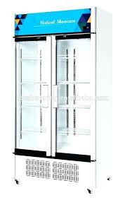 2 door commercial cooler doors beverage display showcase glass used c