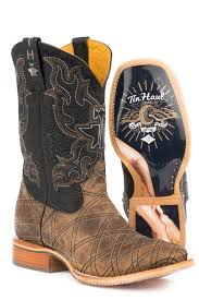 Tin Haul Mens Whats Your Angle Pin Up Girl Sole Cowboy Boots