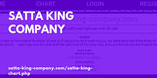Satta King Company Satta King Sattaking Gali Result Up
