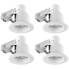white recessed outdoor baffle lighting kit flood light 4 pack