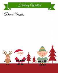 Blank Christmas List Free Printable Holiday Wish List For Kids Making Lemonade