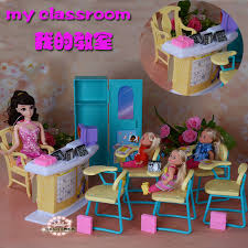 Free Shipping Classroom chairs blackboard Gift Set doll