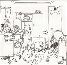 untidy room cartoon google search