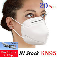 Fast Shipping <b>20PCS KN95 N95</b> Face Mouth <b>Masks Respirator</b> ...