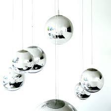copper ball pendant light by flower shade modern tom mirror glass lights restaurant chrome lamps hanging copper ball pendant light