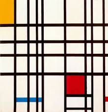 famous painting composition with red yellow and blue of piet mondrian