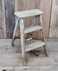 vintage weathered wood step ladder small step stool silver green pertaining to new residence small step stool wood plan
