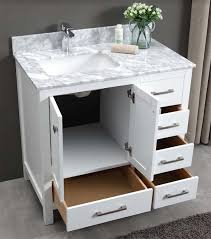 Constantia 36 Inch Bathroom Vanity White Carrara Marble Top