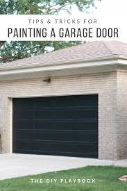 to paint a garage door