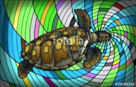 stained glass turtle stained glass style stock photo and royalty free images on for