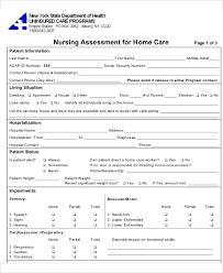 Sample Assessment Form Nursing Patient Assessment Form Under Fontanacountryinn Com