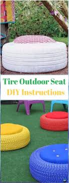 recycled furniture pinterest. Diy Recycled Old Tire Furniture Ideas Projects For Home Chair With Rope Diyhow Pinterest