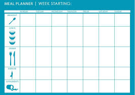 Monthly Dinner Planner Monthly Dinner Menu Planning Template Monthly Meal Menu