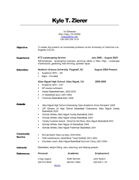 Beautiful Resume Objectives For Students In High School For High