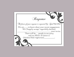 Party Rsvp Template Diy Wedding Rsvp Template Editable Text Word File Instant