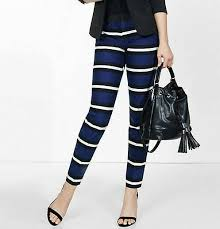 Express Editor Pants Size Chart Details About New Express Womens Editor Low Rise Striped Stretch Ankle Pants Size 4 R 80 00