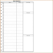 Daily Schedule Template Free Awesome Printable Work Schedule Free Templates Class Template Student Planner