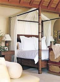 Romantic Outdoor Bamboo Canopy Bed Furniture - home staging and ...