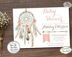 Dream Catcher Baby Shower Invitations Dream catcher invite Etsy 48