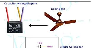 electrical wiring ceiling fan ceiling fan 3 wire capacitor wiring Ceiling Fans with Lights Wiring-Diagram electrical wiring ceiling fan