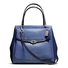 Lyst - Coach Madison Northsouth Satchel in Lizard Embossed Leather ...