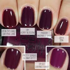 Comparison of fall berry <b>nail</b> colors. | <b>НОГТИ</b> | Berry nails, Opi nails ...