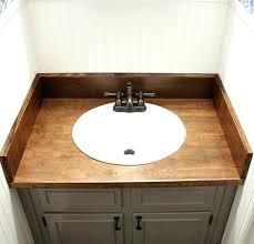 diy wood counter wood bathroom how we replaced our ugly s in one weekend diy reclaimed diy wood counter distressed wooden diy wood countertops
