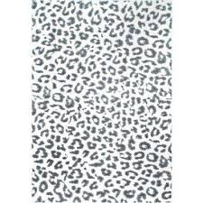 leopard print grey 6 ft 7 in x 9 ft area rug