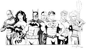 Justice League Coloring Pages To Print - Coloring Home