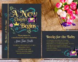 Baby Shower Invitations Attractive Book Themed Baby Shower Library Themed Baby Shower Invitations