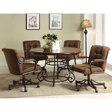 artistic rolling dining room chairs casters for harian metro