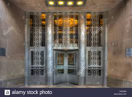 art deco office. the art deco entrance to church street post office building in new york city