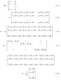 in here the matrices m c k p are as follows m c k are nxn matrices and v p are nx1 matrices