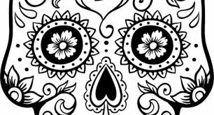 Small Picture dia de los muertos face coloring page Archives Cool Coloring