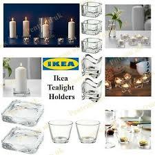 set of three tea light candle holders two sets of glitter tea light candles 10ea