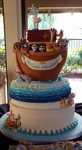 noahs ark baby shower ideas for baby shower party. Noah\u0027s Ark 3-tier Oval Shaped Vanilla Cake With Raspberry Filling, SMBC, Fondant Covered, Filled Modeling Paste Elephants, Rhinos, Giraffes, Grizzlies, Noahs Baby Shower Ideas For Party