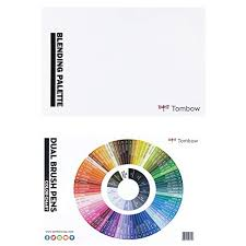 Tombow Dual Brush Pen Blank Color Chart Tombow Blending Kit Includes Blending Palette Colorless