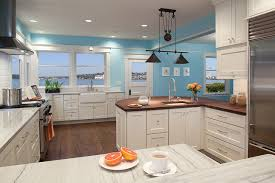retractable lighting. Inspiration For A Mid-sized Contemporary U-shaped Dark Wood Floor And Brown Retractable Lighting O