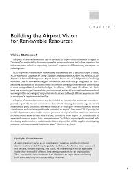 Chapter 3 Building The Airport Vision For Renewable