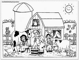 28 collection of free printable farm animal coloring pages high