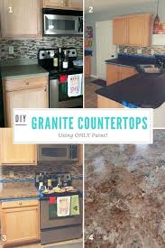 totally transform old laminate countertops to look like granite only faux painting kitchen countertops