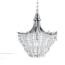 silver crystal chandelier orb large o